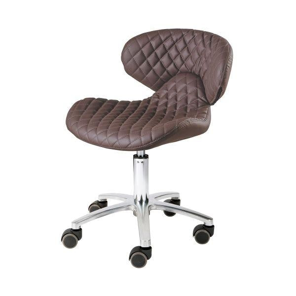 Pedicure Stool with Backrest Chocolate Whale Spa - Stools