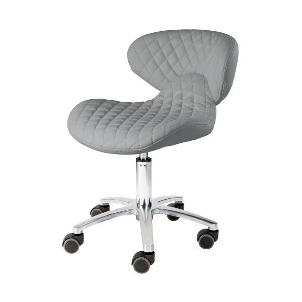Pedicure Stool with Backrest Grey Whale Spa - Stools