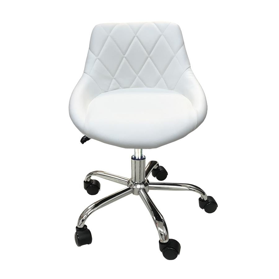Pixel Pedicure Stool White Deco Salon - Stools