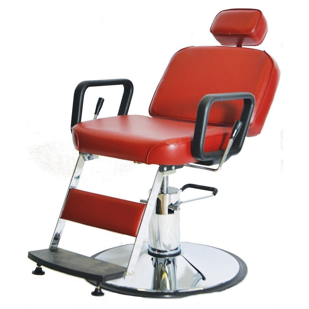 Prince Barber Chair 4391 Red Pibbs - Barber Chairs