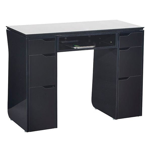 Vicki Nail Table Black Whale Spa - Manicure Tables