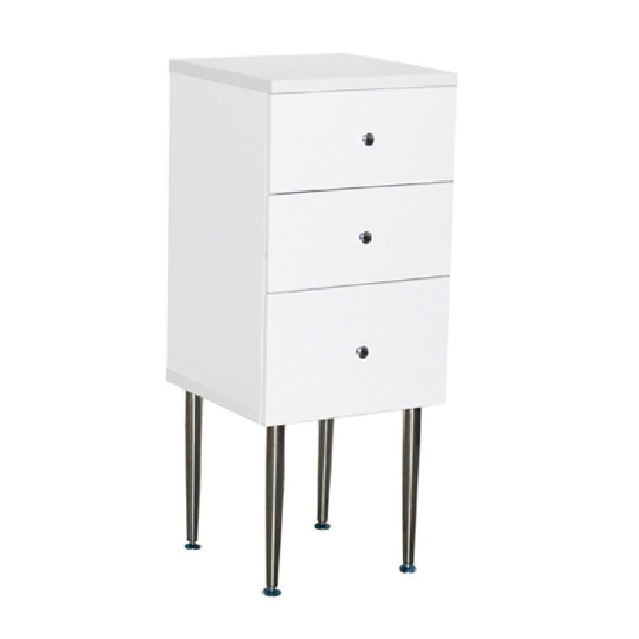 Vincino Side Cabinet White Deco Salon - Cabinets