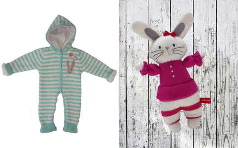 Bunny baby set and toy