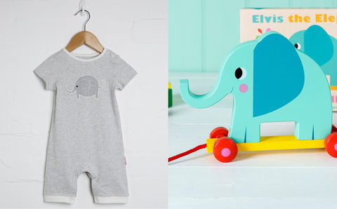 elephant newborn baby gift set