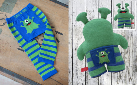 Martian legging and rattle toy gift set for baby
