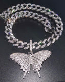 Butterfly Cuban Chain Set