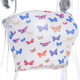 Butterflies Tube Top