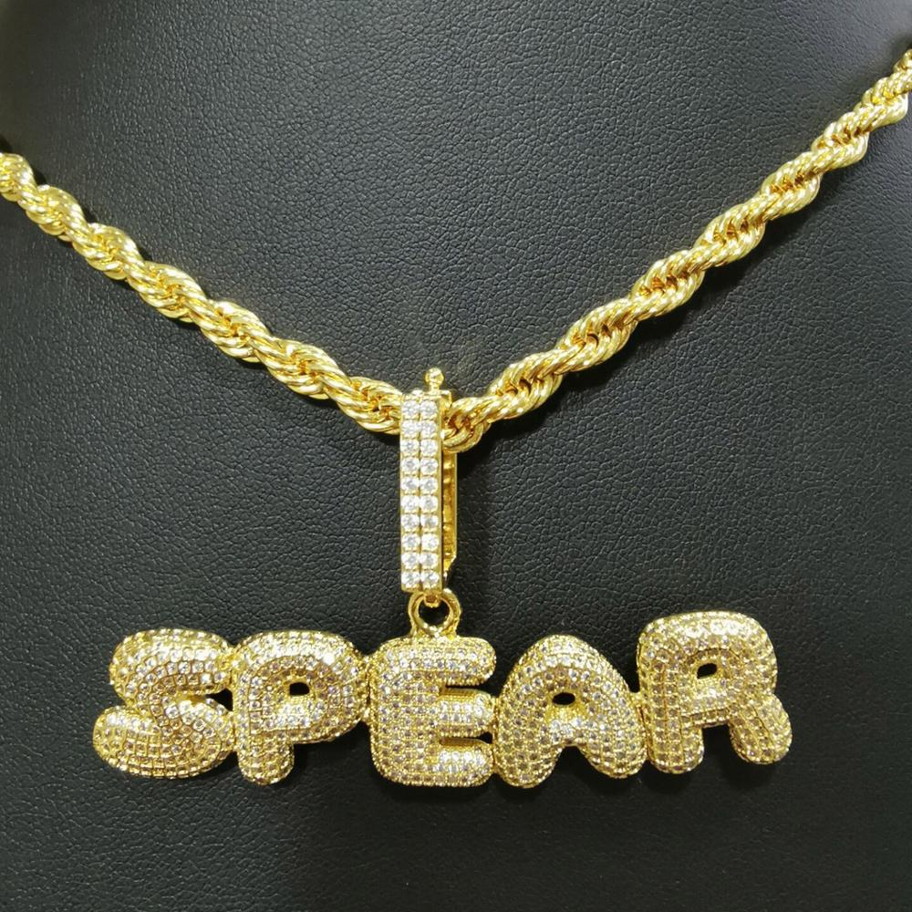 Custom Name Bubble Letter Rope Chain