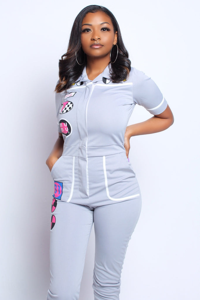Patch Front Jumpsuit