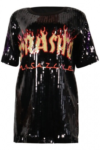 Thrasher Sequin Tee