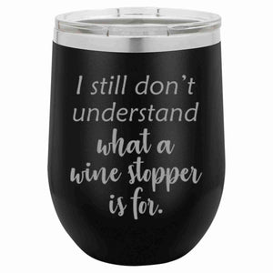 """Wine Stopper"" 12 oz Wine Mug - Driftless Studios"