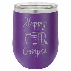 """Happy Camper"" 16 oz Wine Mug - Driftless Studios"