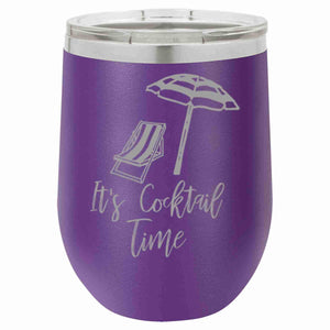 """It's Cocktail Time!"" 12 oz Wine Mug - Driftless Studios"