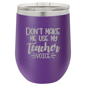 """Teacher Voice"" 16 oz Wine Mug"