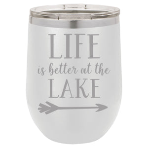 """Life Lake"" 12 oz Wine Mug - Driftless Studios"