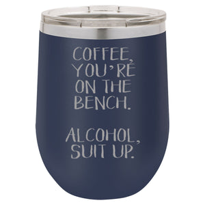 """Coffee Bench"" 12 oz Wine Mug - Driftless Studios"