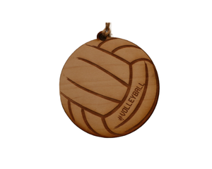 """Volleyball"" Christmas Ornament - WW040 - Driftless Studios"