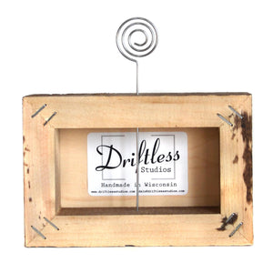 """Lake Life"" Wood Sign w/Wire Picture Holder - AW003 - Driftless Studios"