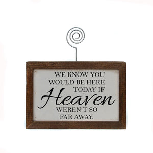 """Heaven"" Wood Sign w/Wire Picture Holder - AW014 - Driftless Studios"