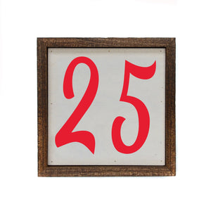 """25"" 6x6 Christmas Sign Wall Art Sign- BW045"