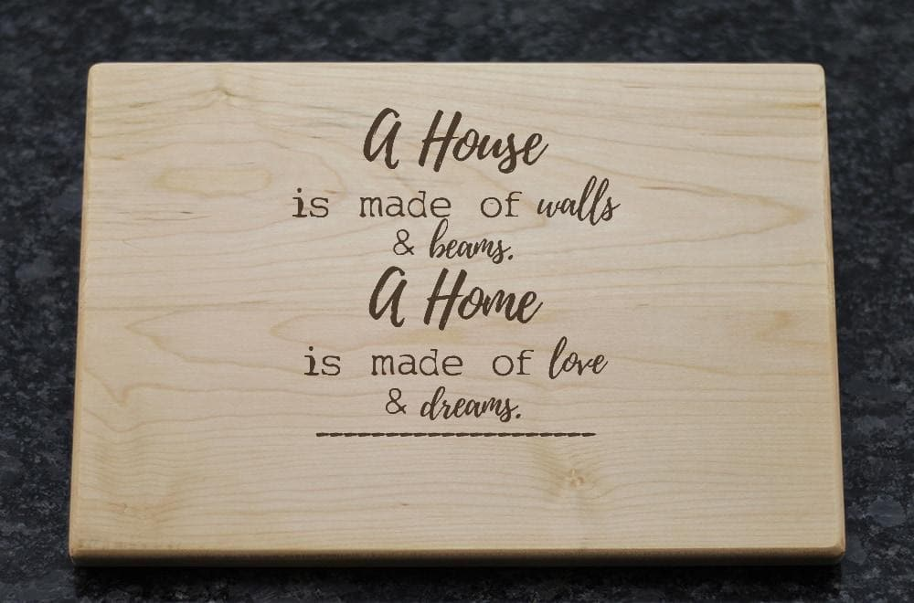 Personalized Cutting Board with Home Quote & Address