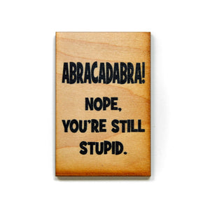 ABRACADABRA Nope, You're still stupid Magnet - XM008 - Driftless Studios