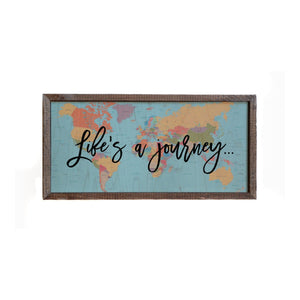 """Life's A Journey"" 12x6 Wall Art Sign - DW015 - Driftless Studios"
