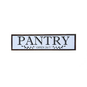 """Pantry"" 24x6 Wall Art Sign - FW002"