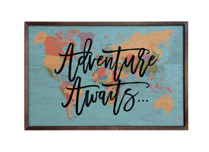 Adventure Awaits; 18x12 Wall Art Sign - GW024 - Driftless Studios