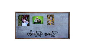 """Adventure Awaits"" 12x24 Metal Sign & Magnet Board - HG001 - Driftless Studios"