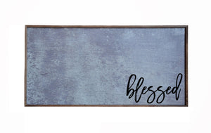 """Blessed"" 12x24 Metal Sign & Magnet Board - HG008 - Driftless Studios"