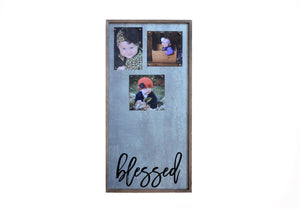 """Blessed"" 12x24 Vertical Metal Sign & Magnet Board - HG018 - Driftless Studios"