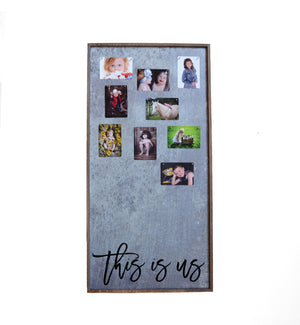 """This Is Us"" 12x24 Vertical Metal Sign & Magnet Board - HG019 - Driftless Studios"