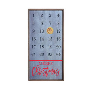 """Christmas Countdown"" 12x24 Metal Sign & Magnet Board - HG026"