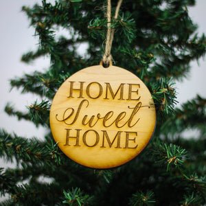 """Home Sweet Home"" Christmas Ornament - WW034 - Driftless Studios"