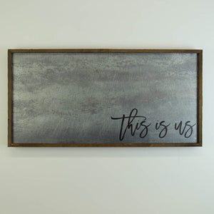 """This is us"" 12x24 Metal Sign & Magnet Board - HG003 - Driftless Studios"