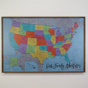 36x24 - Political School House USA Map - US Travel Map - UM009 - Driftless Studios