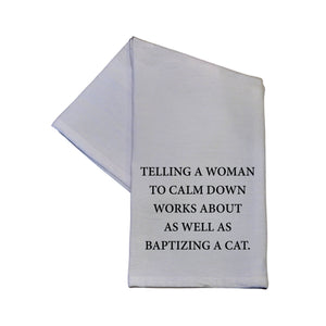 Baptizing A Cat Tea Towel -  TWL002