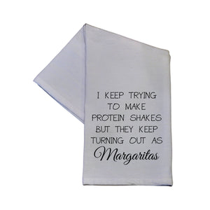 Protein Shakes Turn Out As Margaritas Tea Towel -  TWL003
