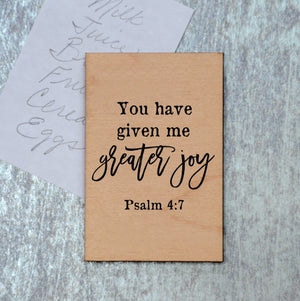 You have given me greater joy Magnet - XM031 - Driftless Studios