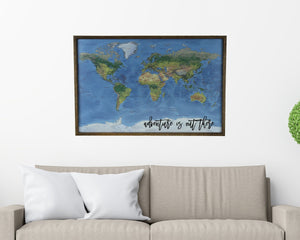 36x24 - Geographical Natural Earth World Map - Travel Map - UM001 - Driftless Studios