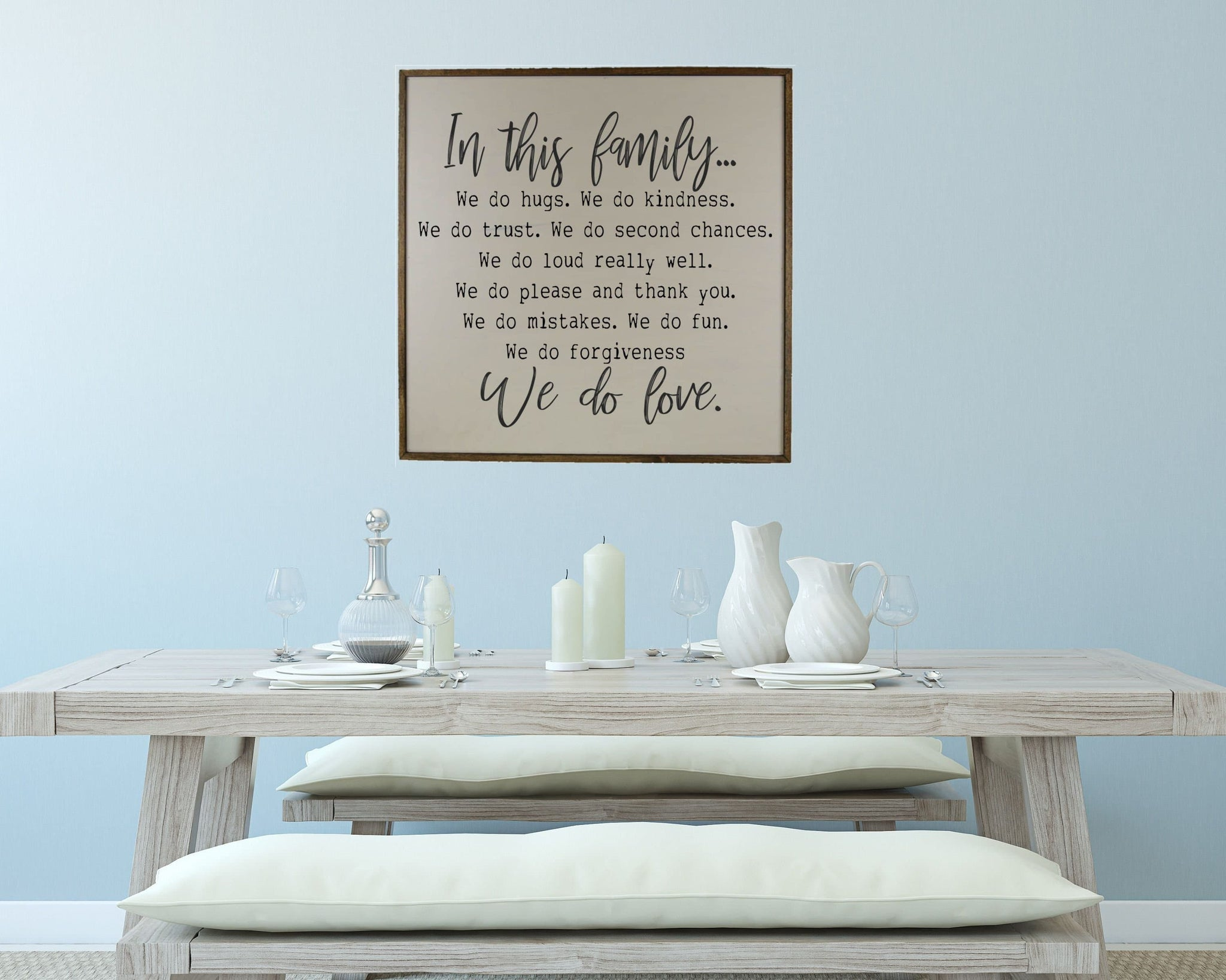 Family Rules Sign Wooden Family Sign Large Wood Sign With Quotes Family Wall Art Family Sign Living Room Sign Dinning Room Sign