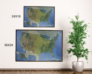 24x16 - Geographical National Parks Map - US Travel Map - SM007 - Driftless Studios