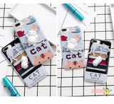3D Lazy Cat iPhone Cases