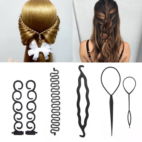 Women Magic Curler Hair Braiding Tool Set