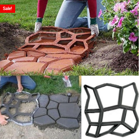 DIY Stepping Stone Path Maker Mold