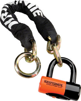 Kryptonite New York Noose Chain 1275 and Evolution Disc Lock: 2.5' (70cm)