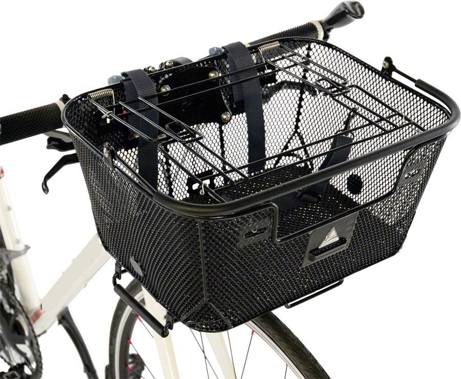 Pet Basket with Rack and Handlebar Mounts