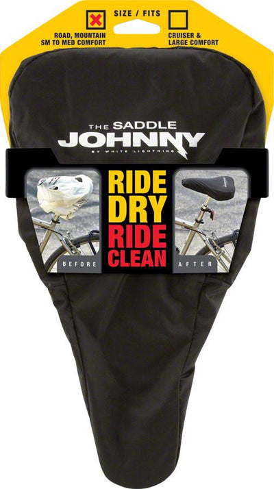 White Lightning+Saddle Johnny Seat Cover - Electric Bikes