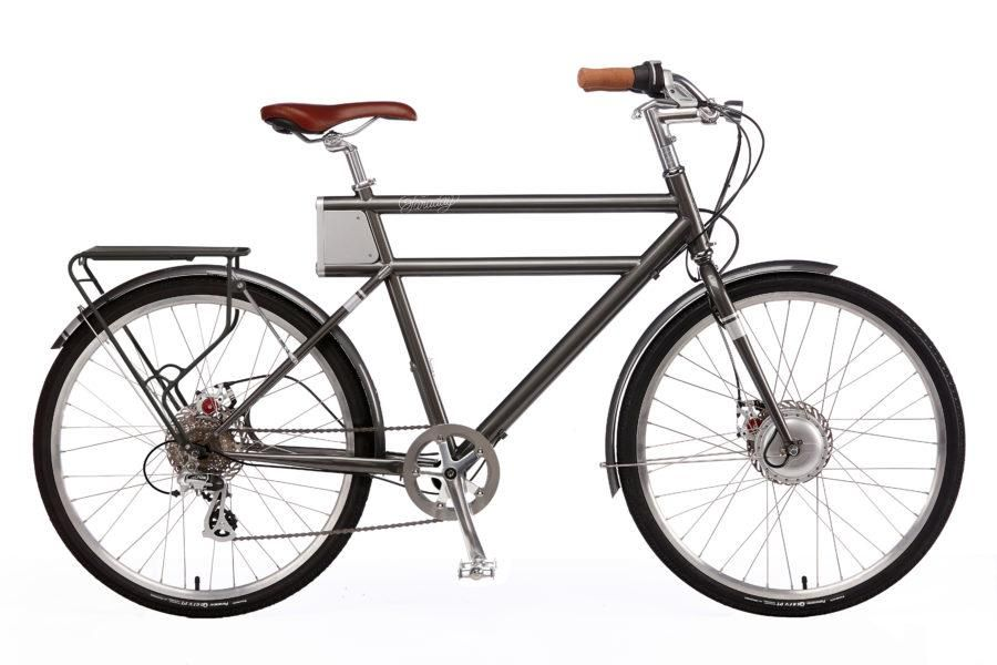 Faraday+Porteur S - Slate Grey - Electric Bikes